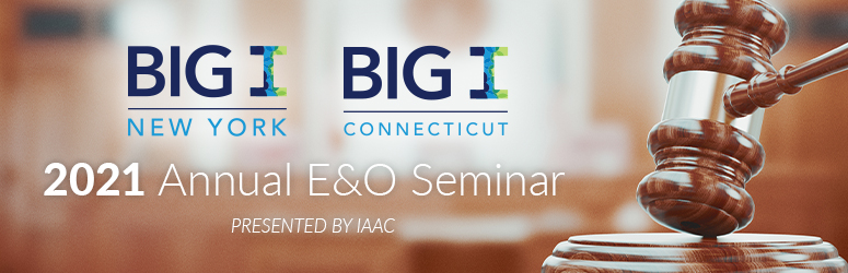 BIG I NY & CT 2021 E&O Loss Control Webinar